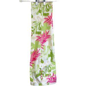 Willi Smith Women's Crop Cotton Pants, Green/Pink